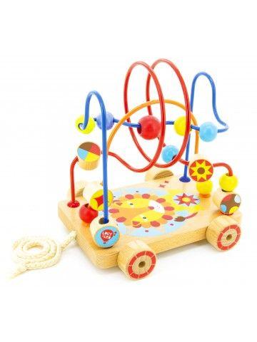 Velkamā rotaļlieta labirints Nr.4 - Attīstošās koka rotaļlieta Lucy&Leo Lucy&Leo - 1