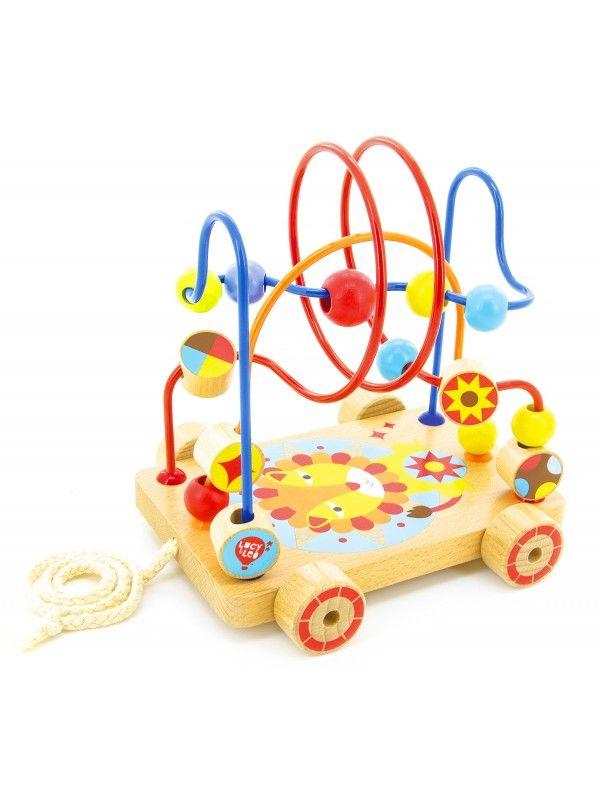 Каталка лабиринт Nr.4 - обучающие деревянные игрушки Lucy&Leo Lucy&Leo - 1