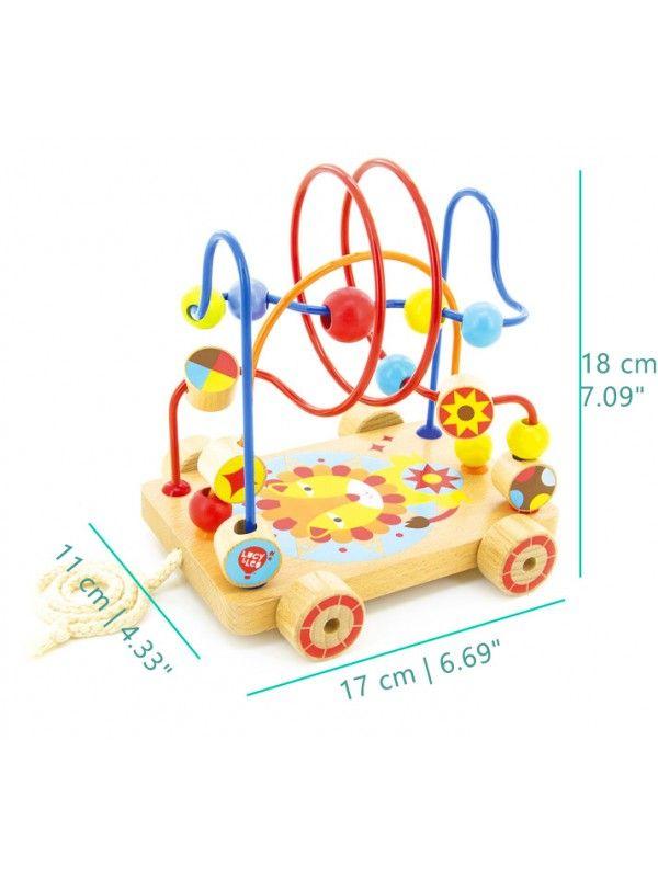Каталка лабиринт Nr.4 - обучающие деревянные игрушки Lucy&Leo Lucy&Leo - 2