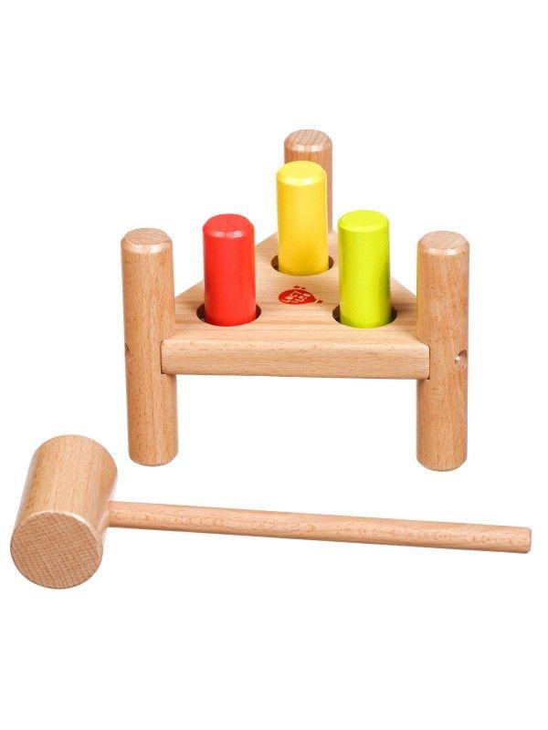 Apgrieztās naglas trīsstūris - Attīstošās koka rotaļlieta Lucy&Leo Lucy&Leo - 1