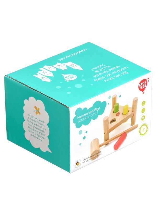 Apgrieztās naglas trīsstūris - Attīstošās koka rotaļlieta Lucy&Leo Lucy&Leo - 5
