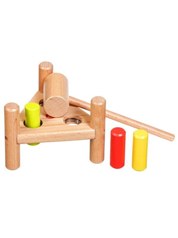 Apgrieztās naglas trīsstūris - Attīstošās koka rotaļlieta Lucy&Leo Lucy&Leo - 2