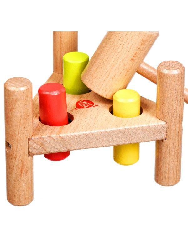 Apgrieztās naglas trīsstūris - Attīstošās koka rotaļlieta Lucy&Leo Lucy&Leo - 4