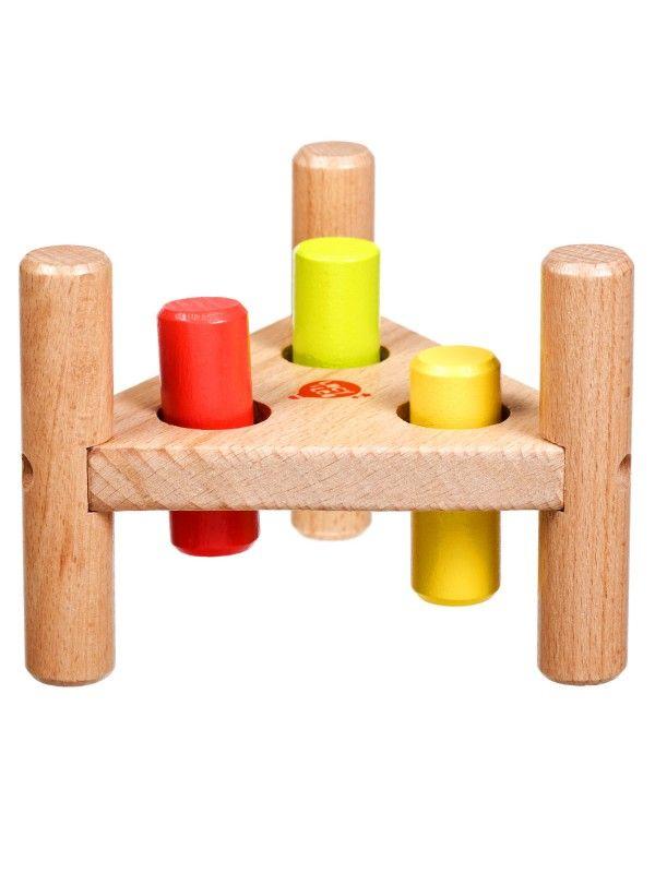 Apgrieztās naglas trīsstūris - Attīstošās koka rotaļlieta Lucy&Leo Lucy&Leo - 3