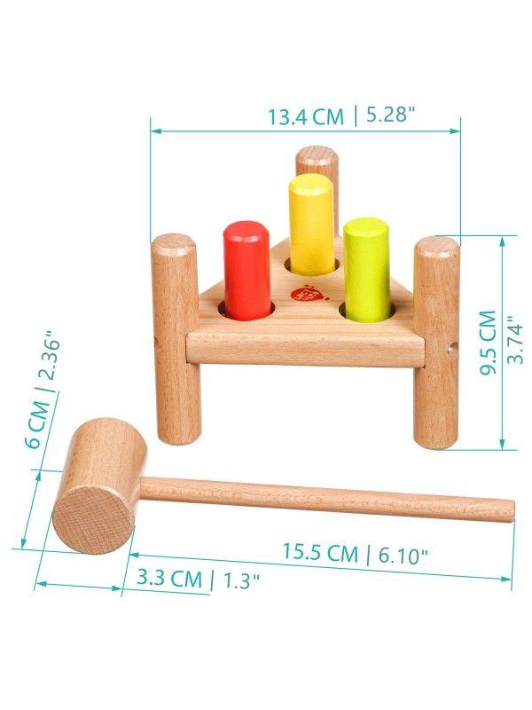 Apgrieztās naglas trīsstūris - Attīstošās koka rotaļlieta Lucy&Leo Lucy&Leo - 6