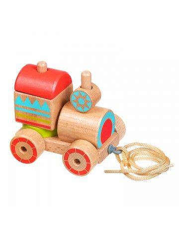Velkamā rotaļlieta – sorteris vilcieniņš - Attīstošās koka rotaļlieta Lucy&Leo Lucy&Leo - 1