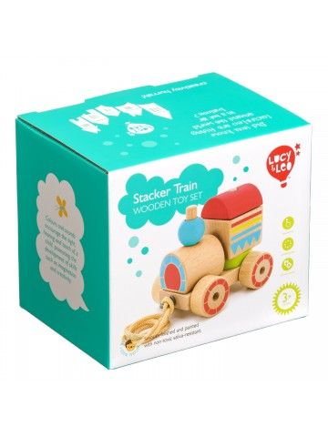 Каталка-сортер паровозик - обучающие деревянные игрушки Lucy&Leo Lucy&Leo - 9
