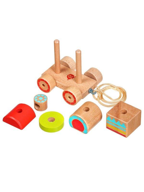Каталка-сортер паровозик - обучающие деревянные игрушки Lucy&Leo Lucy&Leo - 2