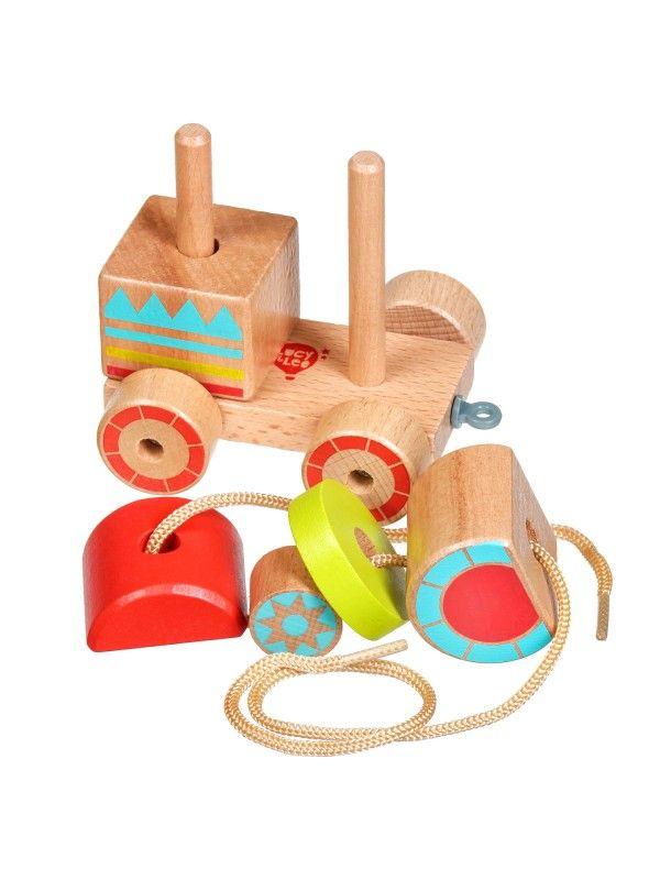 Каталка-сортер паровозик - обучающие деревянные игрушки Lucy&Leo Lucy&Leo - 3
