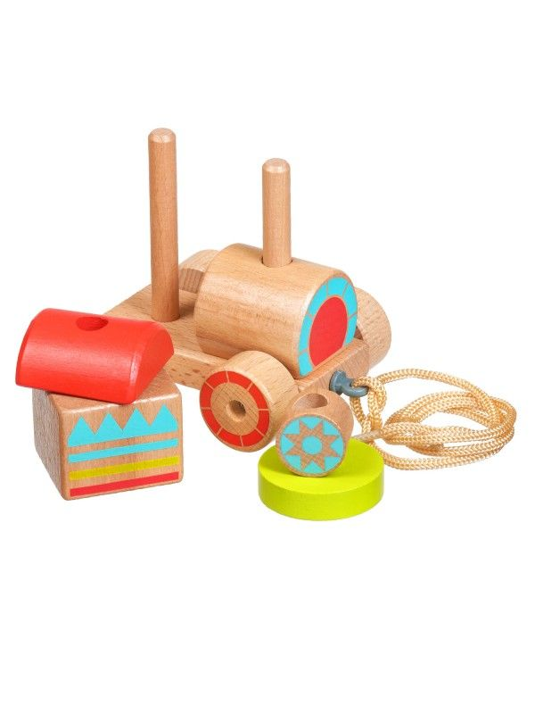 Каталка-сортер паровозик - обучающие деревянные игрушки Lucy&Leo Lucy&Leo - 4