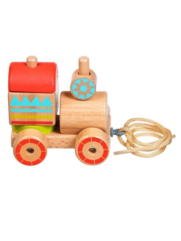 Каталка-сортер паровозик - обучающие деревянные игрушки Lucy&Leo Lucy&Leo - 5