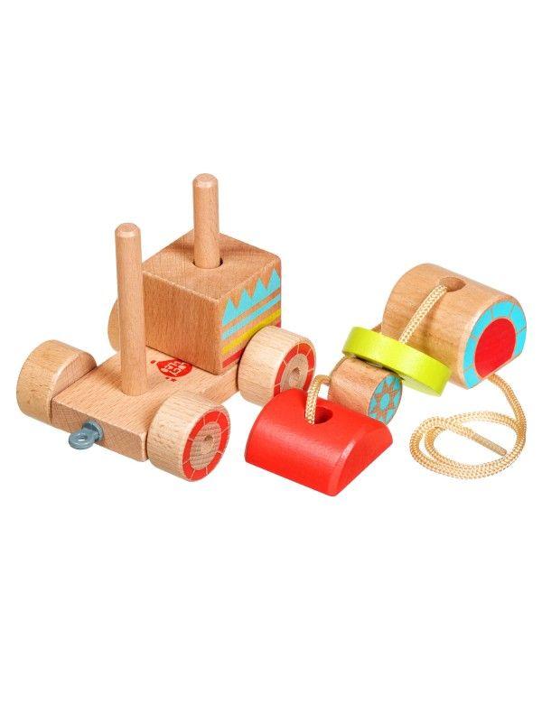 Каталка-сортер паровозик - обучающие деревянные игрушки Lucy&Leo Lucy&Leo - 6