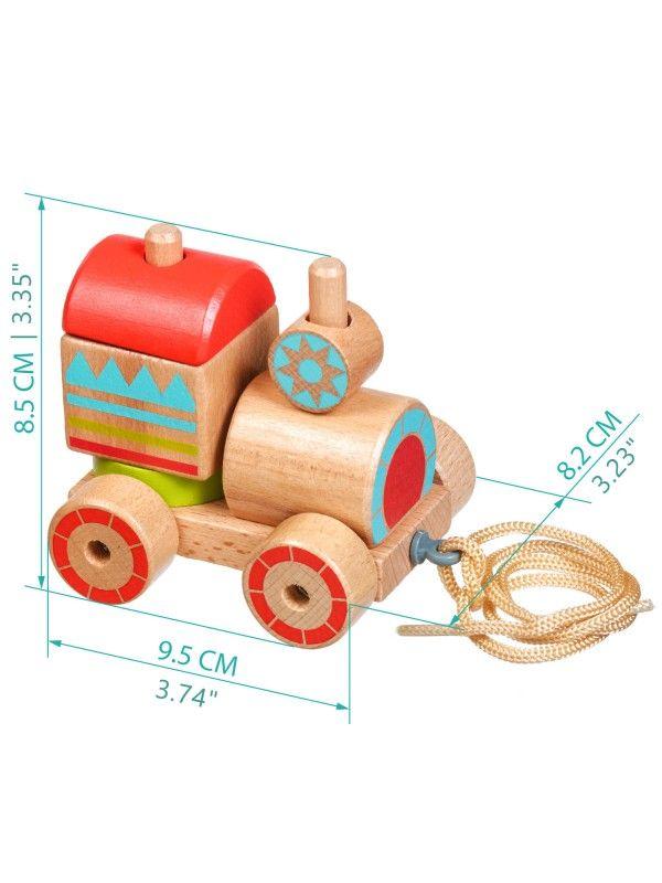Velkamā rotaļlieta – sorteris vilcieniņš - Attīstošās koka rotaļlieta Lucy&Leo Lucy&Leo - 8