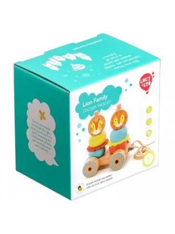 Car-pyramid Lions - educational wood toys Lucy&Leo Lucy&Leo - 7