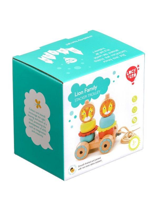 Velkamā rotaļlieta – piramīda Lauvas - Attīstošās koka rotaļlieta Lucy&Leo Lucy&Leo - 7