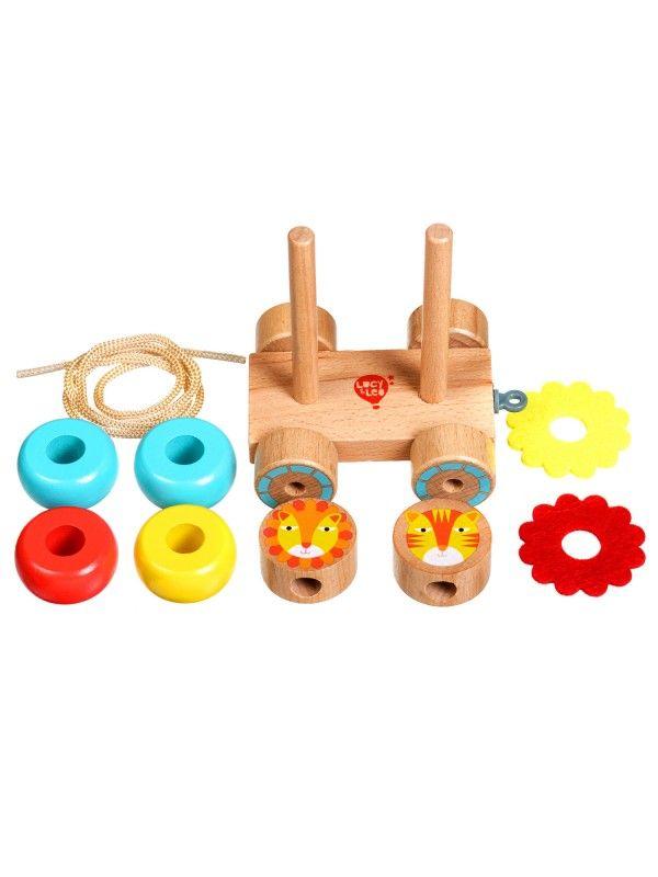 Velkamā rotaļlieta – piramīda Lauvas - Attīstošās koka rotaļlieta Lucy&Leo Lucy&Leo - 2