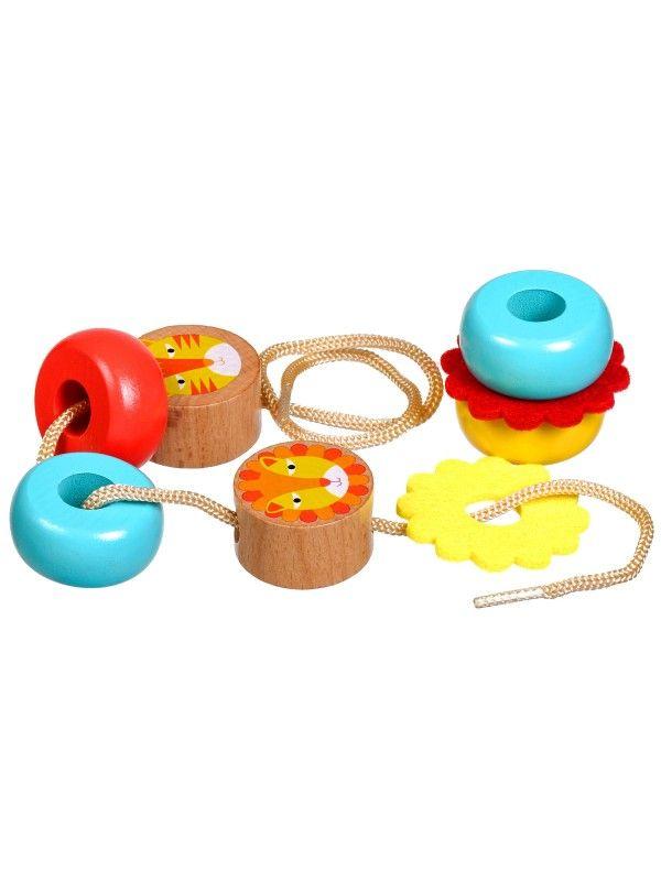 Каталка-пирамидка Львы - обучающие деревянные игрушки Lucy&Leo Lucy&Leo - 3