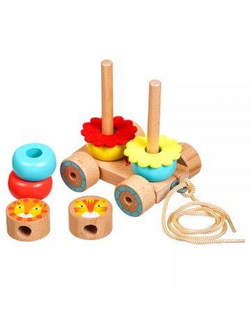Каталка-пирамидка Львы - обучающие деревянные игрушки Lucy&Leo Lucy&Leo - 4