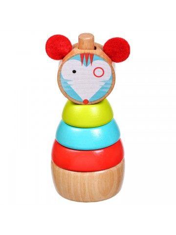 Пирамидка мышка - обучающие деревянные игрушки Lucy&Leo Lucy&Leo - 1