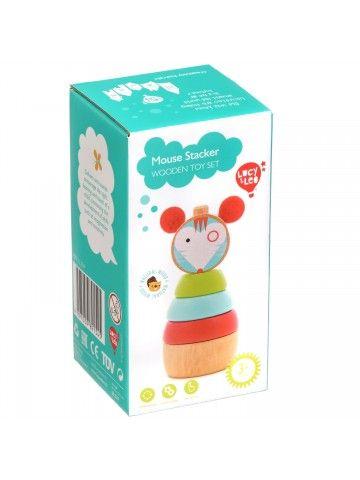 Пирамидка мышка - обучающие деревянные игрушки Lucy&Leo Lucy&Leo - 6