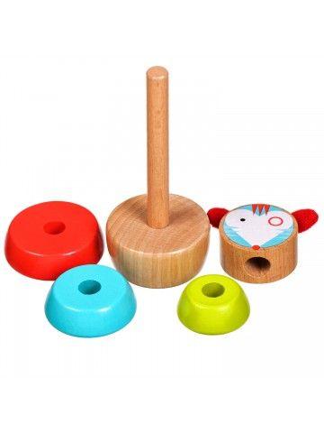 Пирамидка мышка - обучающие деревянные игрушки Lucy&Leo Lucy&Leo - 2