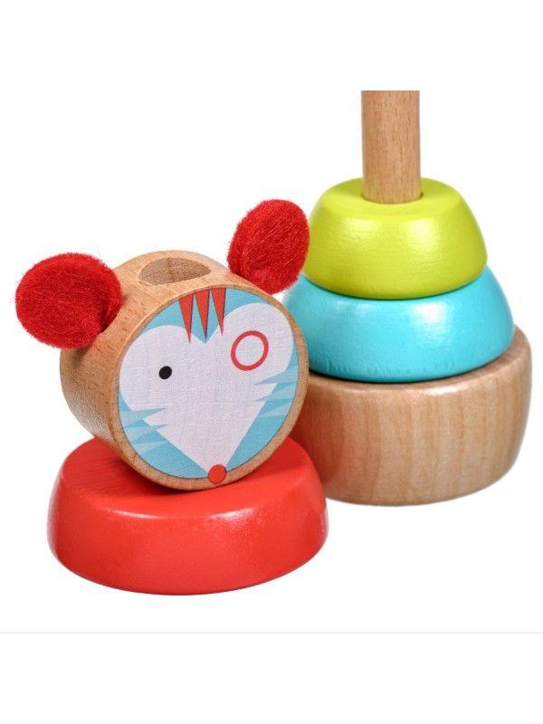 Пирамидка мышка - обучающие деревянные игрушки Lucy&Leo Lucy&Leo - 3