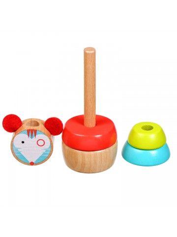 Пирамидка мышка - обучающие деревянные игрушки Lucy&Leo Lucy&Leo - 4