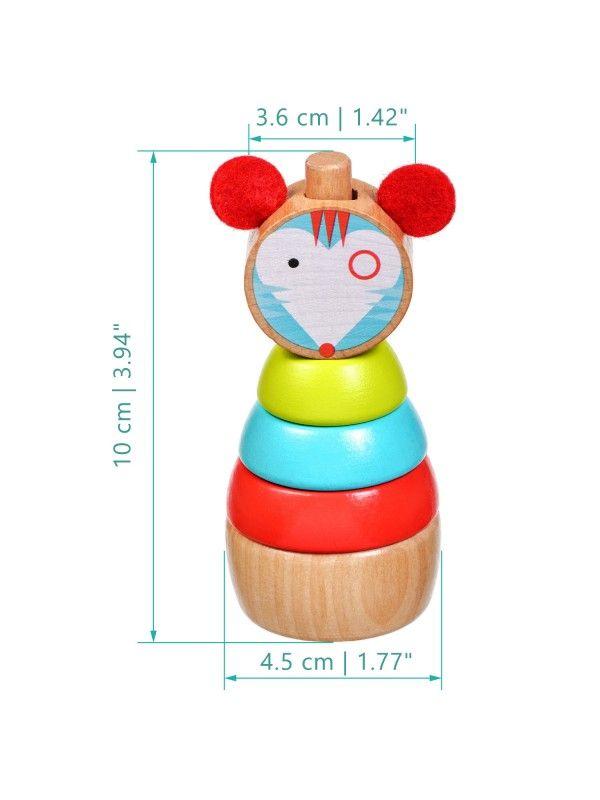 Пирамидка мышка - обучающие деревянные игрушки Lucy&Leo Lucy&Leo - 5