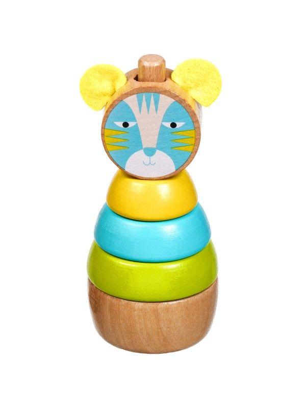 Пирамидка Кот - обучающие деревянные игрушки Lucy&Leo Lucy&Leo - 1