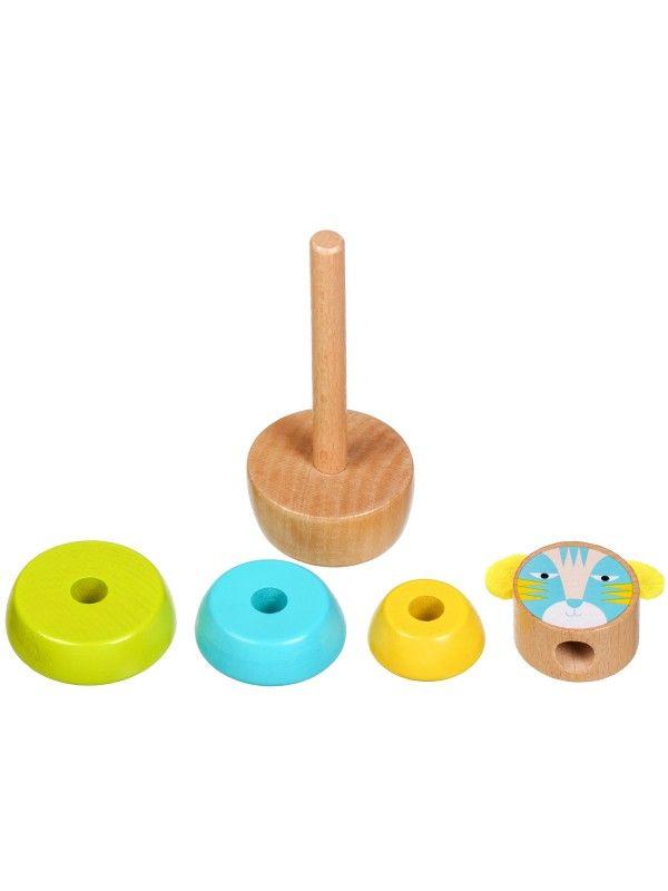 Пирамидка Кот - обучающие деревянные игрушки Lucy&Leo Lucy&Leo - 2
