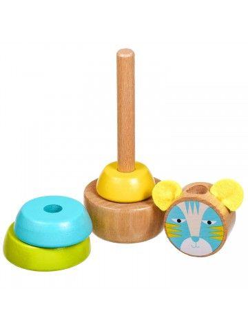 Пирамидка Кот - обучающие деревянные игрушки Lucy&Leo Lucy&Leo - 3
