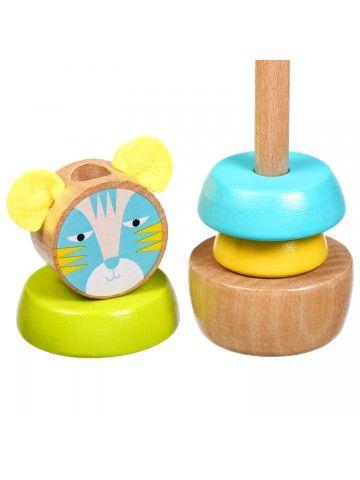 Пирамидка Кот - обучающие деревянные игрушки Lucy&Leo Lucy&Leo - 4