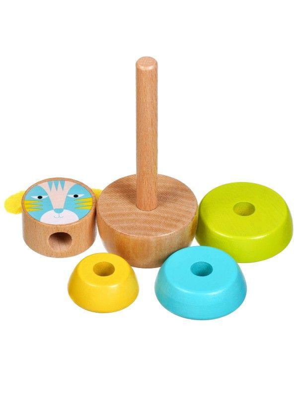 Пирамидка Кот - обучающие деревянные игрушки Lucy&Leo Lucy&Leo - 5