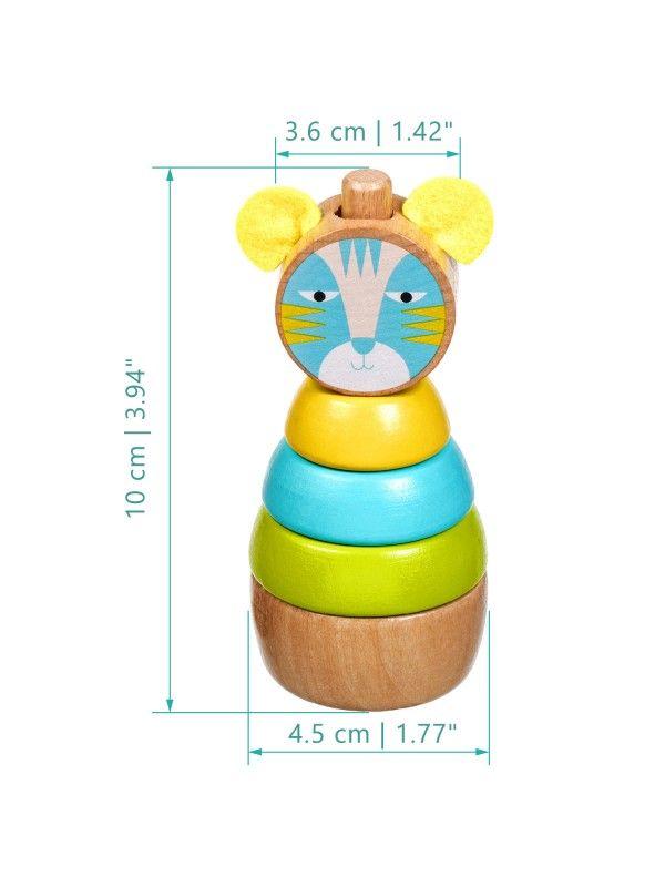 Пирамидка Кот - обучающие деревянные игрушки Lucy&Leo Lucy&Leo - 6