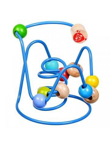 Labirints ar pērlītēm Nr.6 - Attīstošās koka rotaļlieta Lucy&Leo Lucy&Leo - 1