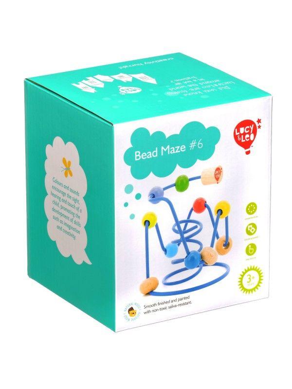 Labirints ar pērlītēm Nr.6 - Attīstošās koka rotaļlieta Lucy&Leo Lucy&Leo - 5