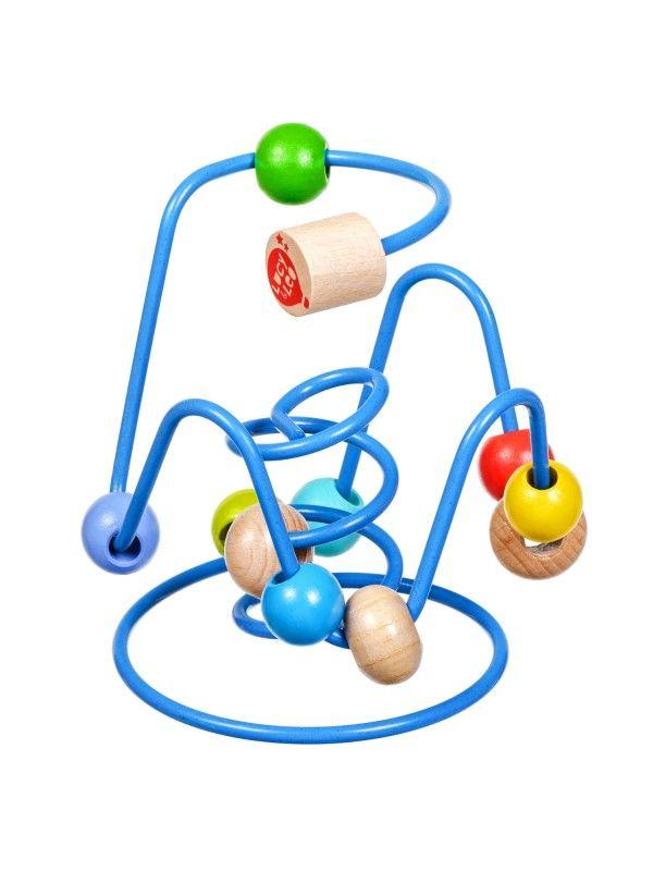 Labirints ar pērlītēm Nr.6 - Attīstošās koka rotaļlieta Lucy&Leo Lucy&Leo - 3