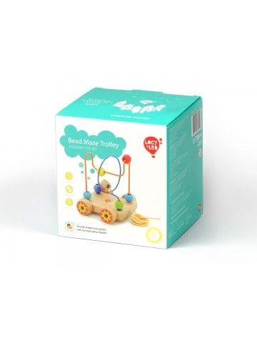 Velkamā rotaļlieta labirints Nr.2 - Attīstošās koka rotaļlieta Lucy&Leo Lucy&Leo - 5