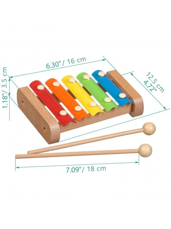 Xylophone - educational wood toys Lucy&Leo Lucy&Leo - 2