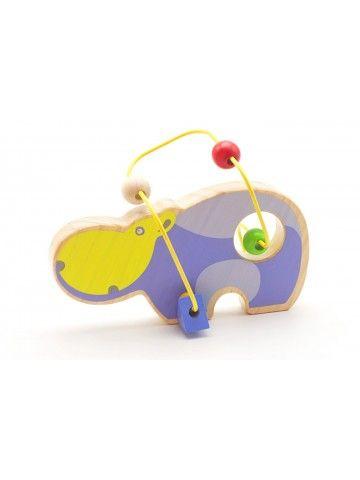 Лабиринт Бегемот - обучающие деревянные игрушки Lucy&Leo - 2