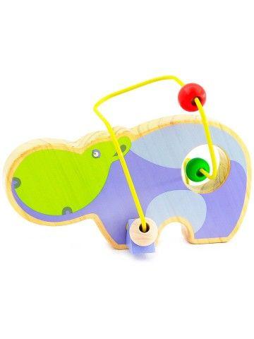 Labirints Begemots - Attīstošās koka rotaļlieta Lucy&Leo - 1