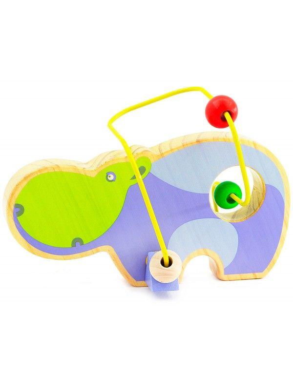 Лабиринт Бегемот - обучающие деревянные игрушки Lucy&Leo - 1