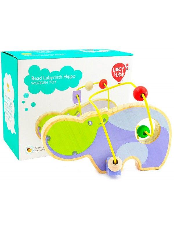 Лабиринт Бегемот - обучающие деревянные игрушки Lucy&Leo - 5