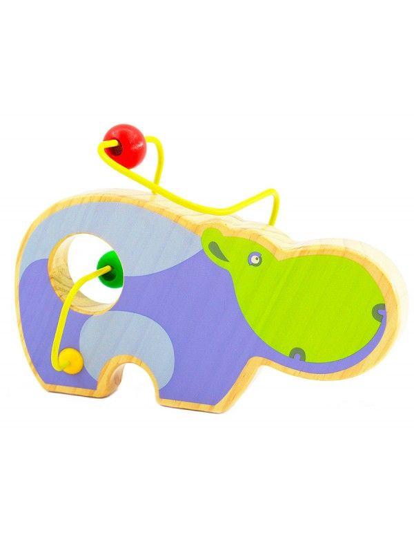 Labirints Begemots - Attīstošās koka rotaļlieta Lucy&Leo - 4
