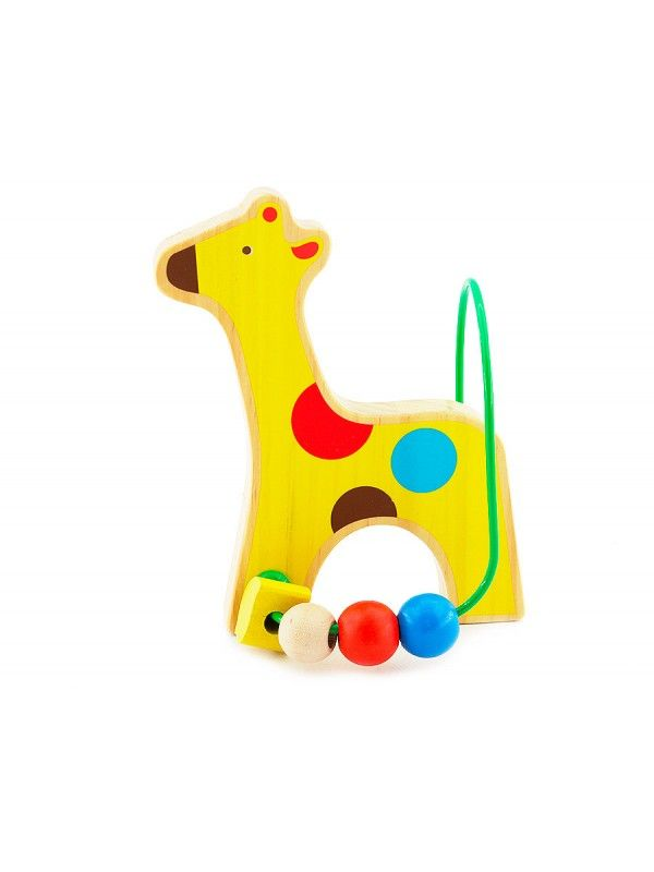 Labyrinth of beads Giraffe - educational wood toys Lucy&Leo Lucy&Leo - 1