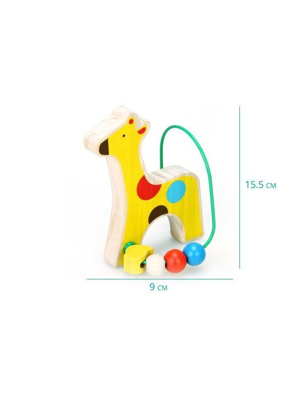 Labirints Žirafe - Attīstošās koka rotaļlieta Lucy&Leo Lucy&Leo - 2