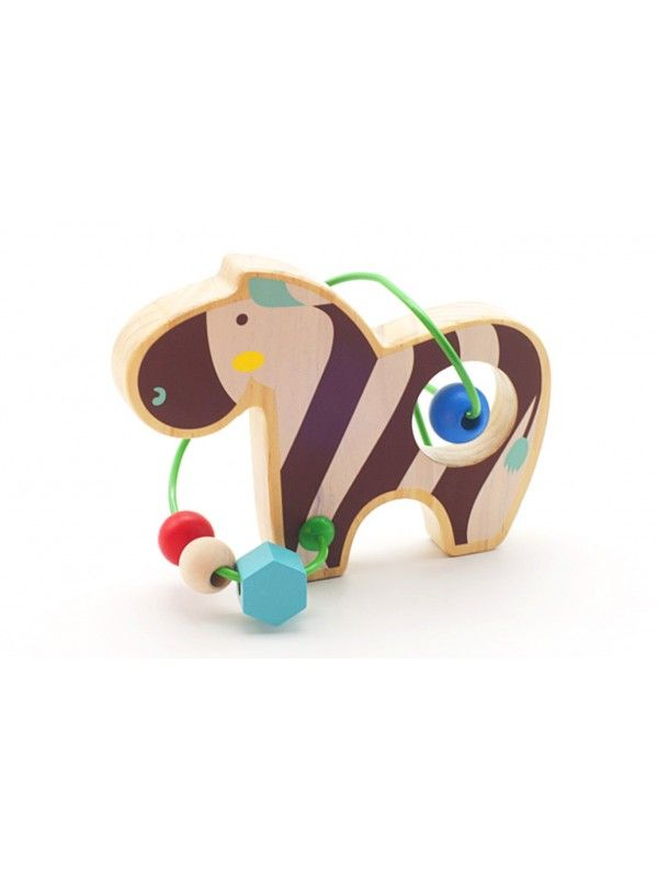 Labyrinth of beads Zebra - educational wood toys Lucy&Leo Lucy&Leo - 4
