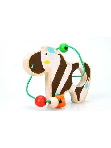 Labirints Zebra - Attīstošās koka rotaļlieta Lucy&Leo Lucy&Leo - 1