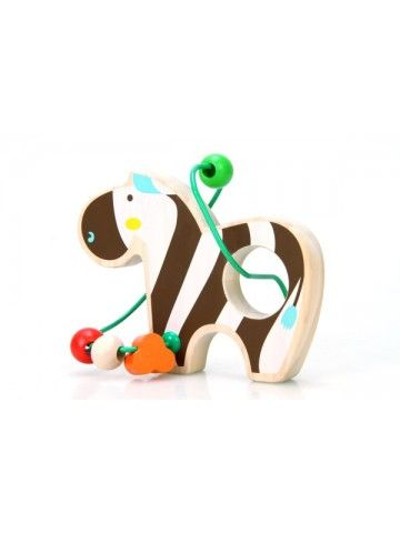 Labirints Zebra - Attīstošās koka rotaļlieta Lucy&Leo Lucy&Leo - 3