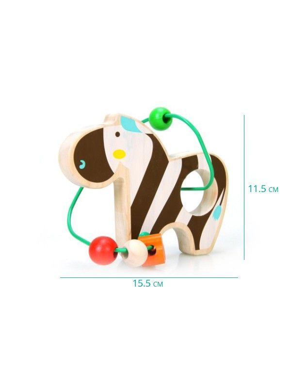 Labirints Zebra - Attīstošās koka rotaļlieta Lucy&Leo Lucy&Leo - 2
